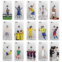TOMOCOMO Clear Phone Case Cover For iphone X 6S 7 7Plus 5S dropshippin Coque Sport Football Soccer Star Cristiano Ronaldo Messi