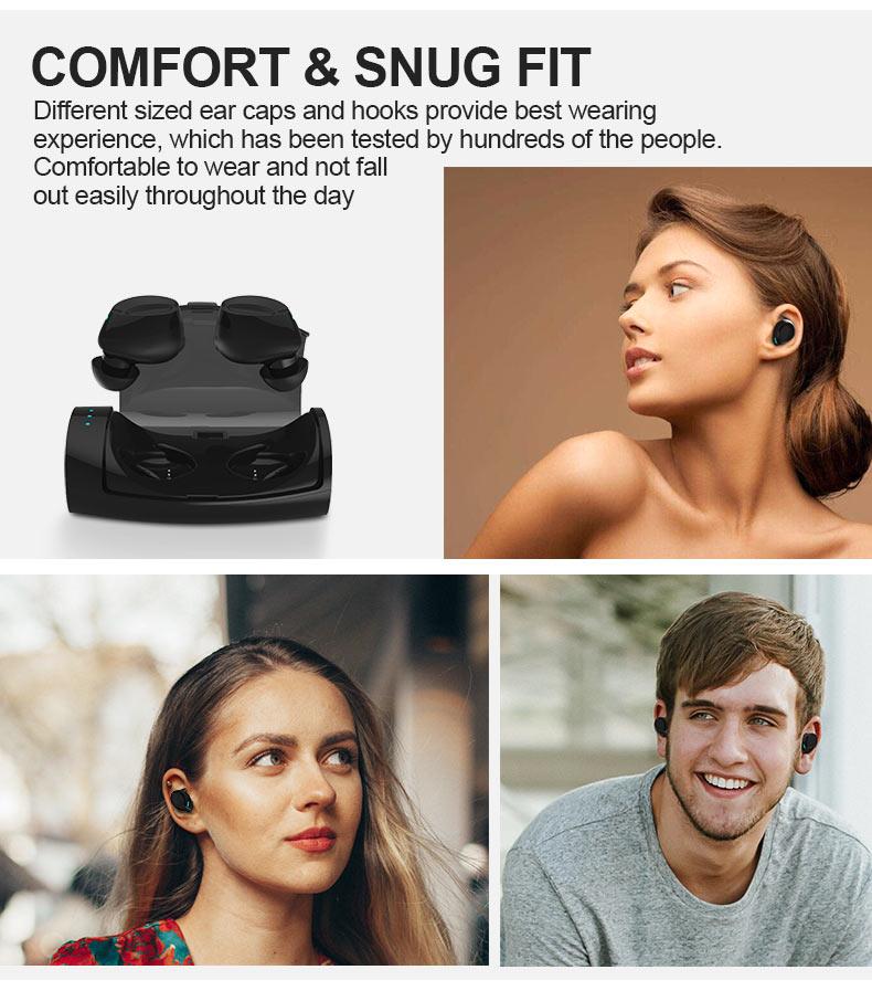 Bluetooth Kopfhörer Mini Stereo Headset In-Ear Ohrhörer Kopfhörer mit Mikrofon Wireless Headset für ios iPhone Android Samsung