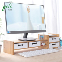 도매 100% Natural Multi-Functional 메트 vintage Desk Bamboo Laptop 와 서 2 Tiers Storage Base