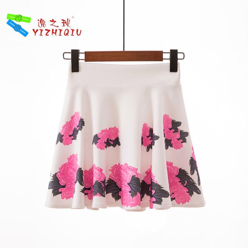 YIZHIQIU Oem Odm Print Floral Pattern A Line Skirt