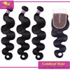 top selling in USA and Europe market wholesale 6a virgin brazilian hair bundles with closure