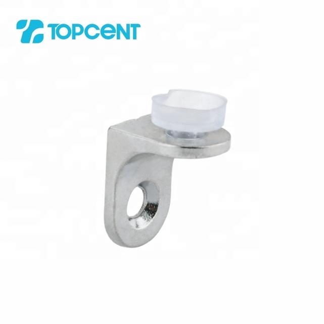 TOPCENT zinc alloy wardrobe metal cabinet glass holder shelf support