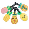 free sample fruit pineapple soft rubber PVC luggage tag