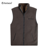 OEM service newest design sherpa lining zipper winter mens polar fleece vest
