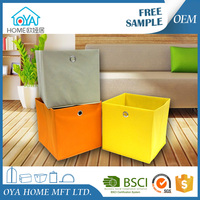 China supplier quality home storage organiser cardboard non woven fabric storage box