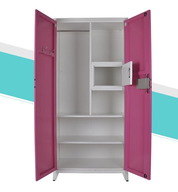 Simple 2 Door Steel Cloth Locker/2 Door Metal Indian