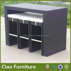 Outdoor Bar Table And Chair Sets rattan Minimalist Decoration On Table Design Ideas