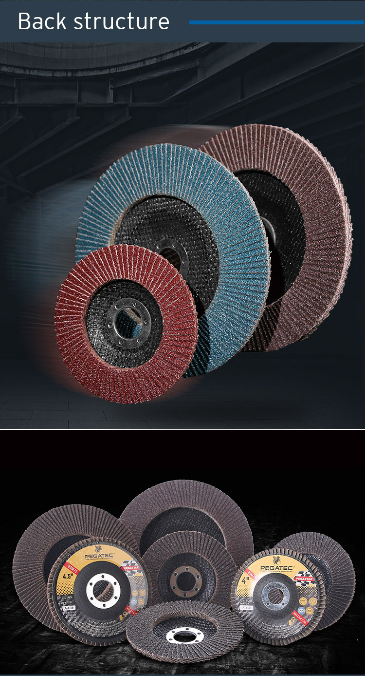 """5 """"125 × 22ミリメートルアルミ酸化フラップディスクグリット80"""