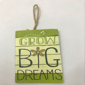 Grow Big Dreams Wood Sign The Best Choice Of Bedroom Ornament