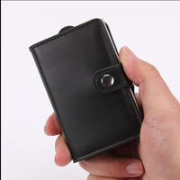 Newest design Credit Card Holder RFID Blocking Genuine Leather carbon fiber card holder
