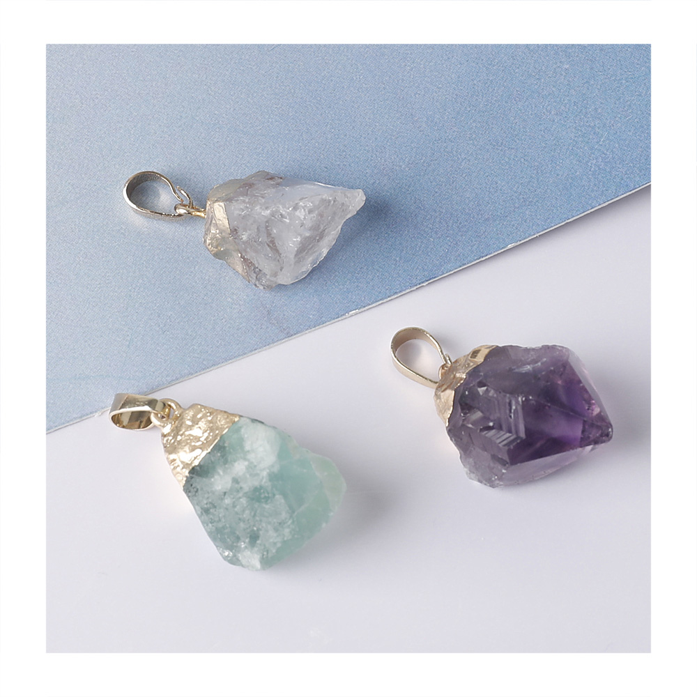 Yase <strong>natural</strong> agate crystal <strong>pendants</strong> <strong>amethyst</strong> fluorite charms choker <strong>pendant</strong>