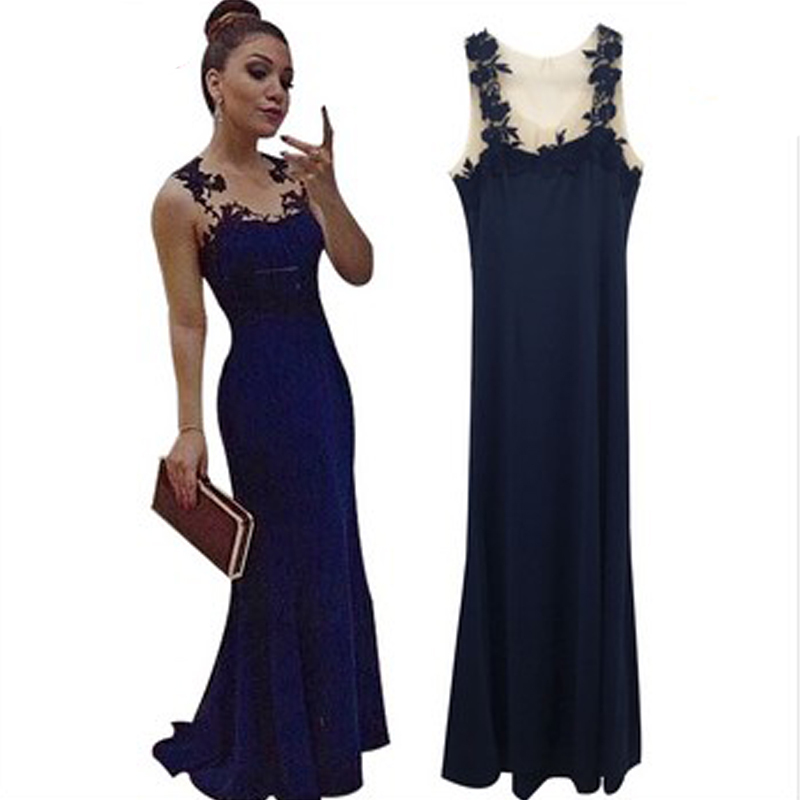 1111922f10 Buy Sleeveless Party Dress Women Maxi Dresses Vestidos Plus Size 2015  Elegant Skinny Sexy Club Dress Hollow Out V-neck Lace Dress in Cheap Price  on ...