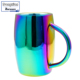 Stainless Steel Classic Traditional Construction Suits Any Decor,Beer Mug Rainbow Color