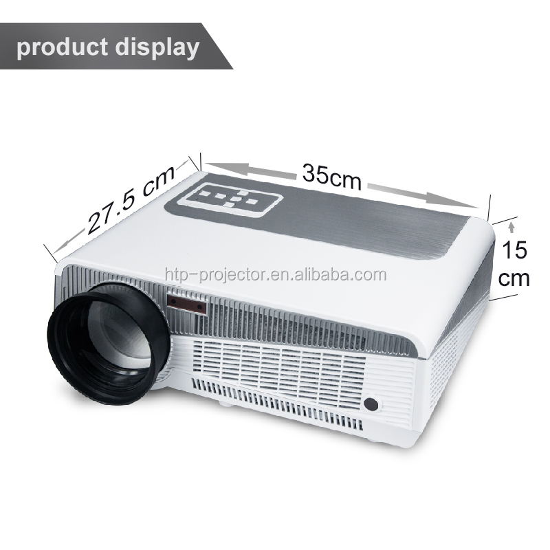 2017 New Cheap HD TV home cinema Projector HDMI LCD LED Game PC Digital Projectors support 1080P Proyector 3D Beamer ATCO