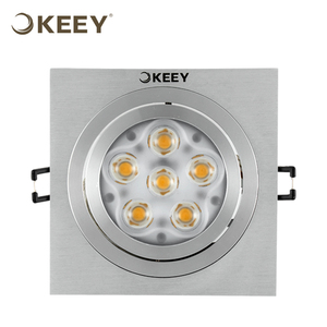 KEEY Square Led Ceiling Light Daylight 9W Cut-out 11.3CM Dalen Ceiling Lights QYS1-L611