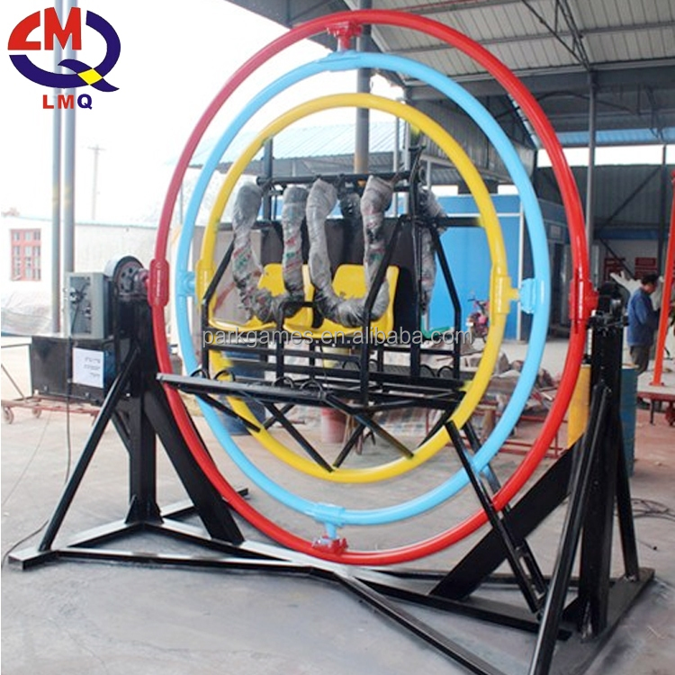 Safest fun indoor and outdoor amusement ride 3d <strong>human</strong> gyroscope for sale