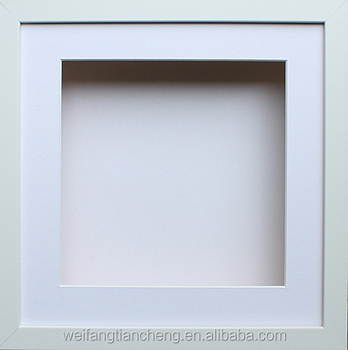 custom square shadow box frame white free stand shadow box frame
