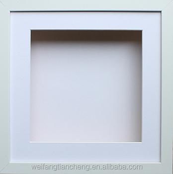 custom square shadow box frame white free stand shadow box frame - White Shadow Box Frame