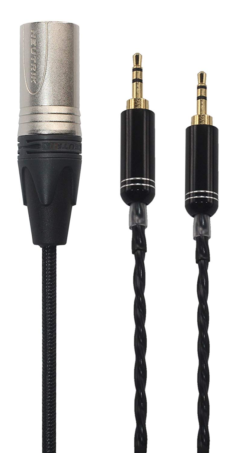 KK Cable N-2M Replacement Audio Upgrade Cable For Hifiman HE400S/HE-400I/HE560/HE-350/HE1000 Headphones, 4-pin XLR Male, N-2M