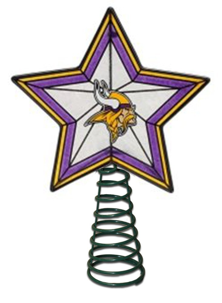 get quotations minnesota vikings art glass tree topper