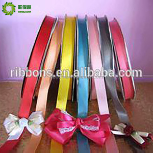 bow coating wedding adhesive elastic satin ribbon