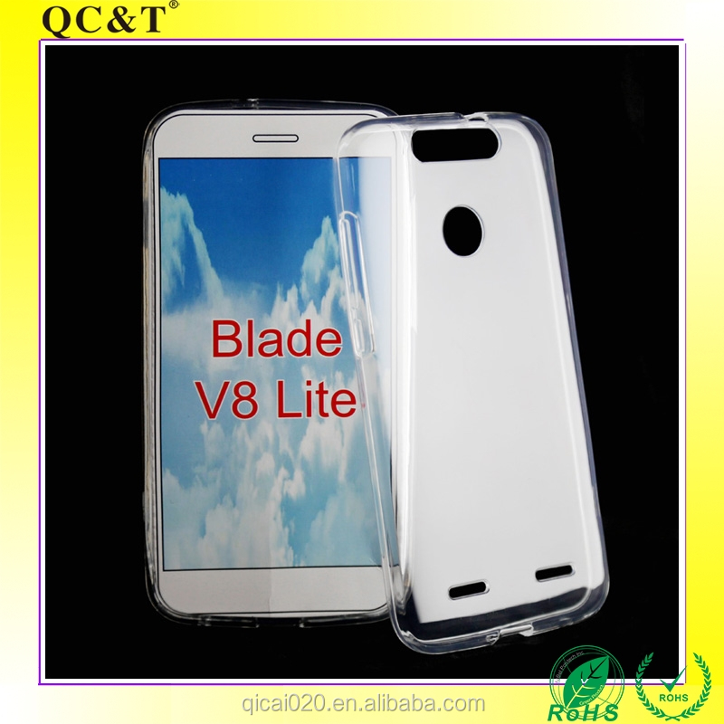 Wholesale Anti-shock Ultra-clear Transparent Soft TPU Silicone Phone Case For ZTE Blade V8 Lite