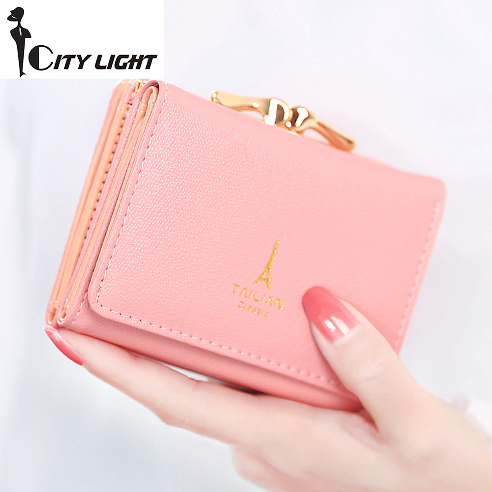 95f781085db5 New arrival wallets Fashion women wallets multi-function High quality small  wallet purse short design three fold freeshipping