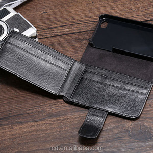 Special Promotion Money Wallet Case For iPhone 4 4S Purse Cover For iPhone 4 4S Right Open Case For iPhone 4 4S RCD02587