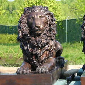 Handmade Best Quality metal craft bronze lion sculpture