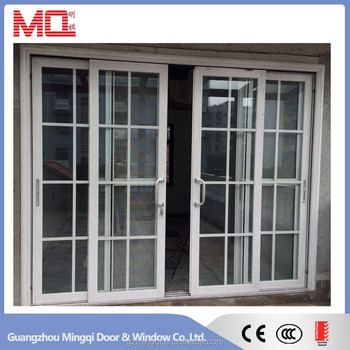 Aluminum white color interior doors with glass inserts