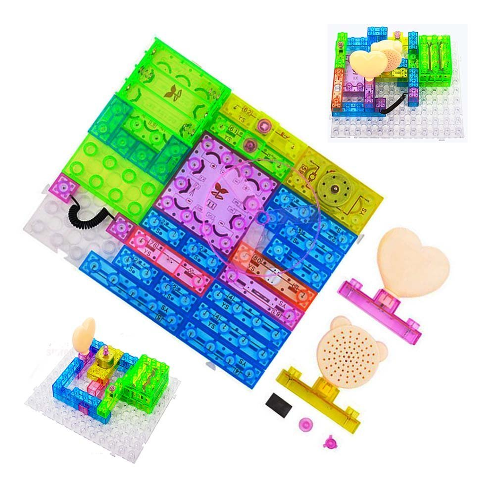 Buy Wiysond Education Learning Snap Electrical Circuits Building Electricity And Blocks Physics Science Kits Electronics Discovery Kit 115