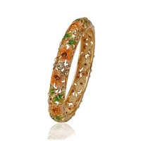 bangle-191 xuping Most Fashionable Gold And 24k Colors Popular Crystal Bracelet Bangle
