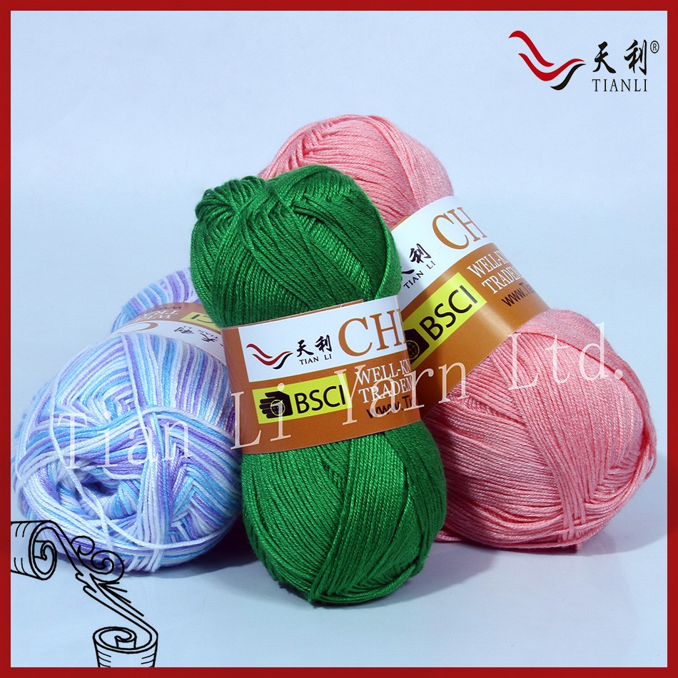 Acrylic and Bamboo Yarn high quality yarn in Italy market