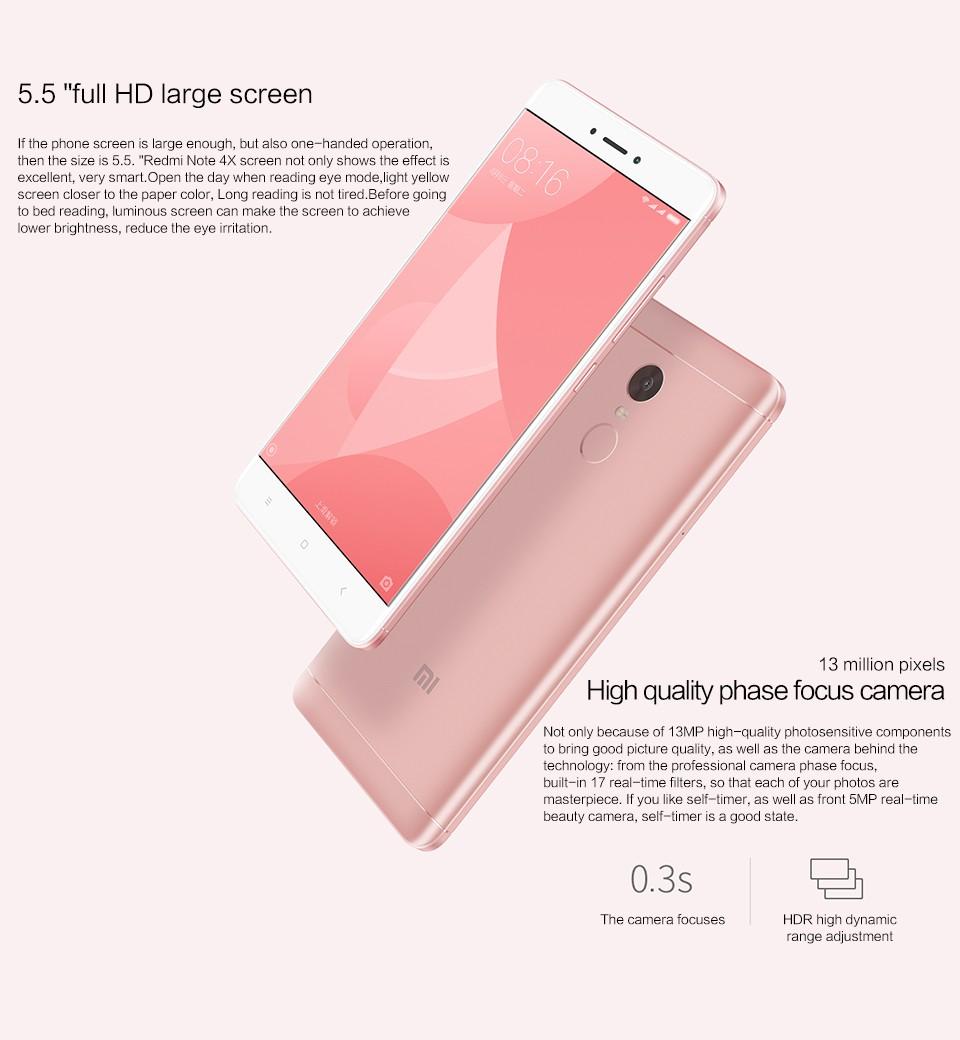 Xiaomi Smartphone Phone 3gb Ram 64gb Rom Mi Redmi Note4 Smartphone 1080p  Fingerprint - Buy Mi Redmi Note 4,Phone 3gb Ram 64gb Rom,Smartphone 1080p