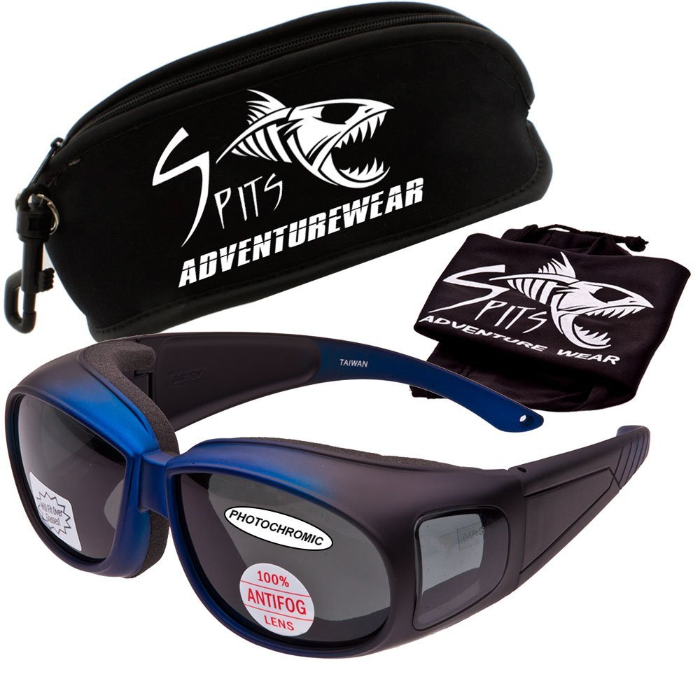 e58ecbb740 Get Quotations · Outfitter Over-Prescription Safety Glasses - Photochromic  Light Adjusting Lenses - These Fit Over Most