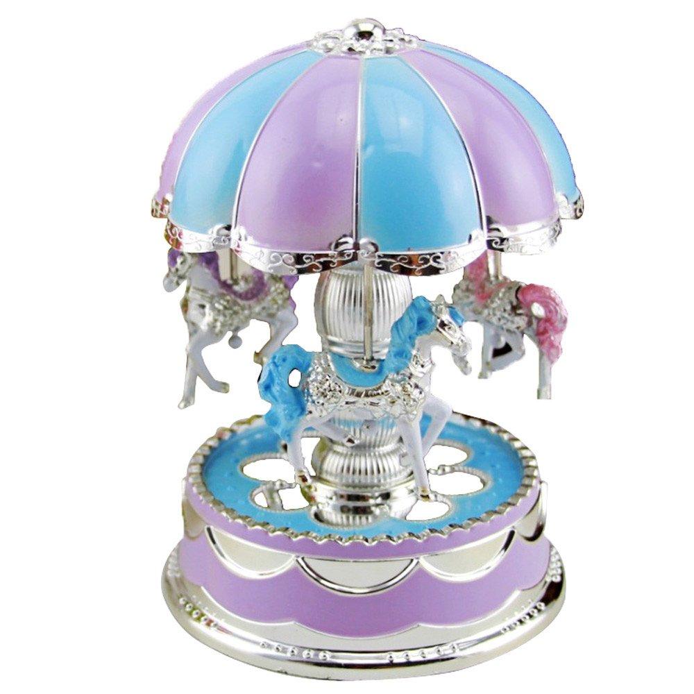 Dreamyth New Merry-Go-Round Music Box Christmas Birthday Gift Carousel Music Box Durable,American Warehouse Shipment