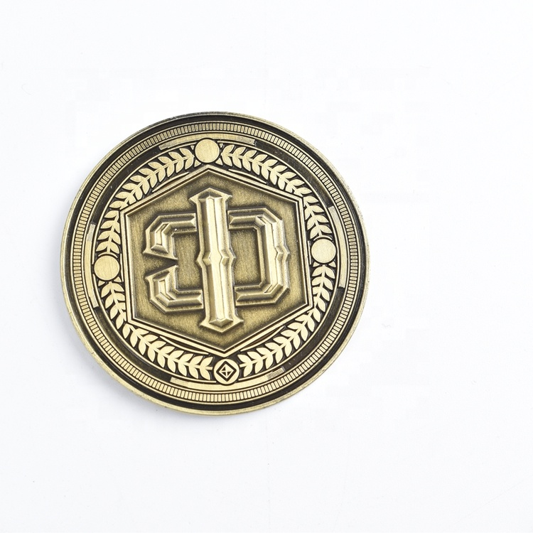Factory Directly Supply Metal 3D antique gold  Challenge Coins