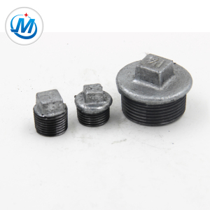 1/2'' Black iron pipe plain plug diy industrial pipe fitting