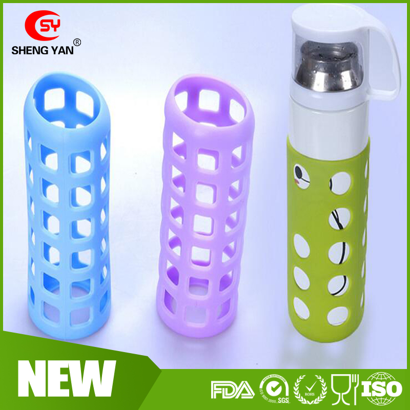 New design anti- skid silicone cup holder Glass bottle heat - resistant drop - proof silicone cup Sleeve