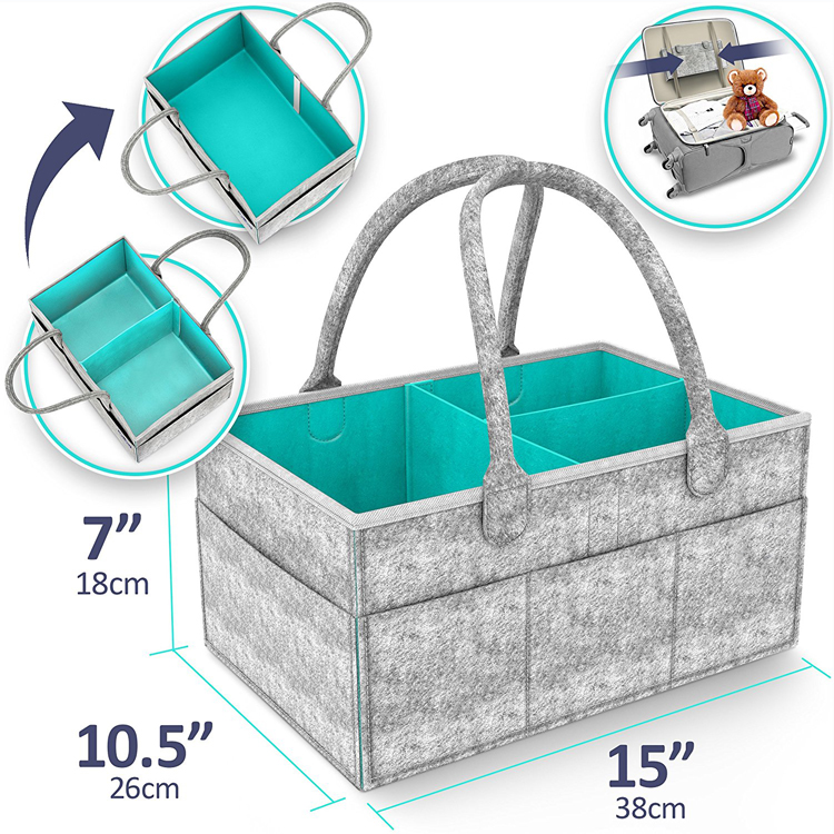 Baby Diaper Caddy Organizer - Diaper Tote Bag | Nursery Storage Bin Newborn Registry Must Haves Diaper Caddy