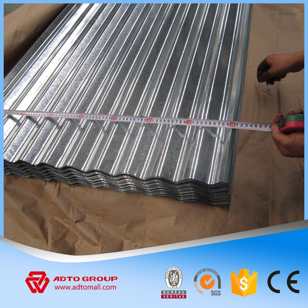 Tin Color Galvanized Textured Aluminium Sheet Metal Roof Celing Cladding