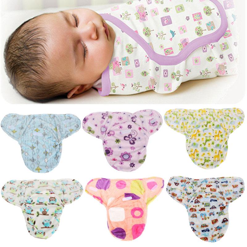 Soft Newborn Swaddle Wrap Warm Blanket Baby Infant Flannel Sleeping