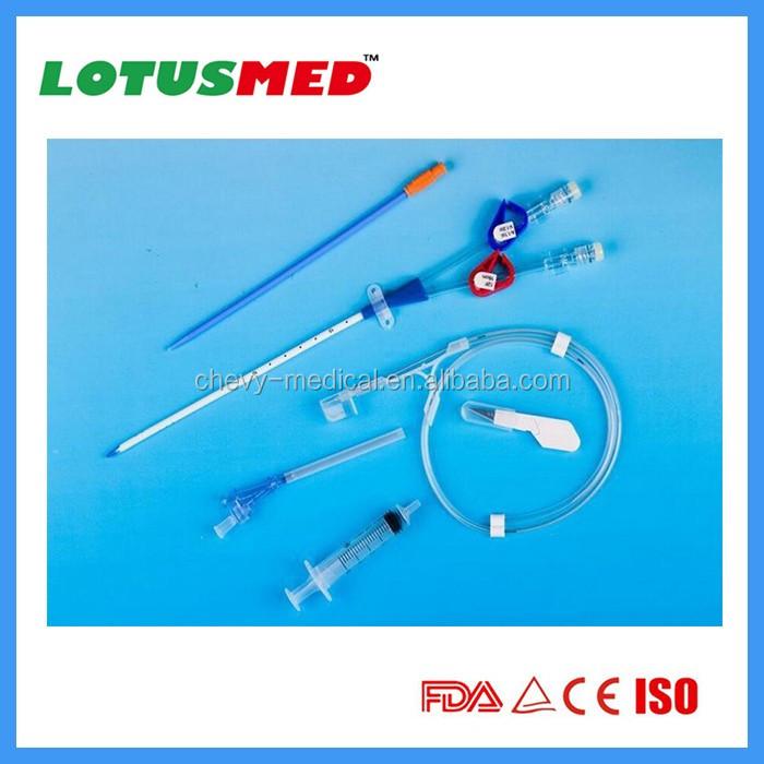 Double Lumen Medical Dialysis Catheter Kits 11.5fr