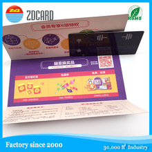 China supplier PVC gift Business card with matching printing backer/holder