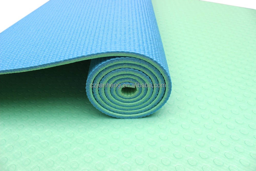 Double layer pvc custom print eco yoga mats