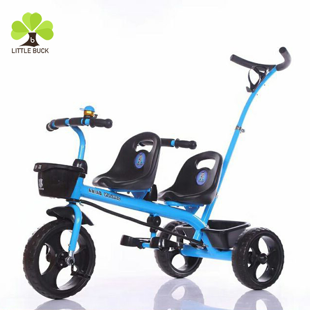 Wholesalebaby carrier tricycle manufacturers child twins tricycle/inflateble tires kids tricycle/baby trikes classic steel pedal