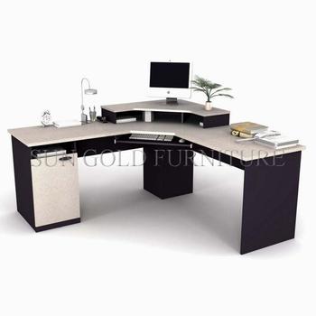 Modern Desk Guangdong Modular Wooden Corner Computer Sz Od552