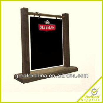 custom wooden chalkboard table tent holder wooden menu table tent