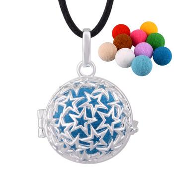 8c4983f2de41 Joyería de plata de ley 925 estrella collar aromaterapia collar difusor  colgante Ángel llamadas venta al