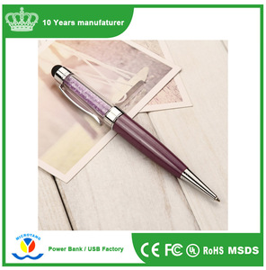 Factory price ,crystal usb pen flash disk,Promotional gifts pendrive